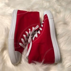 Forever 21 Shoes - Forever 21 Red High Top Sneakers